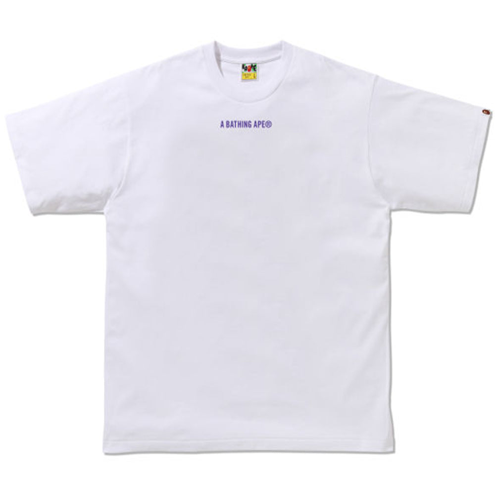 BAPE Leopard Relaxed Fit Tee Purple/White