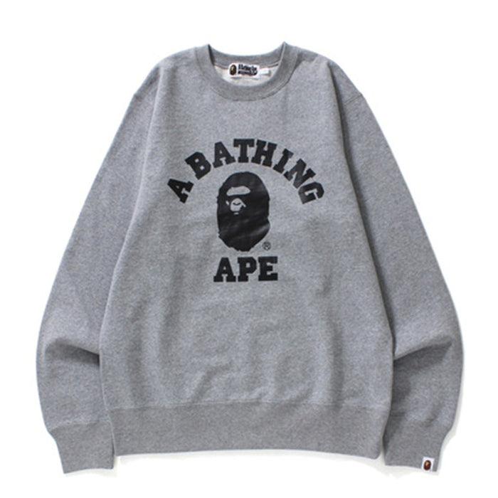 BAPE College Crewneck Grey