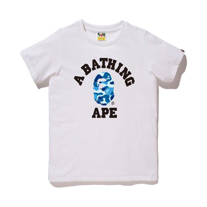 BAPE Abc Camo College Tee Tee (Ladies) White/Blue