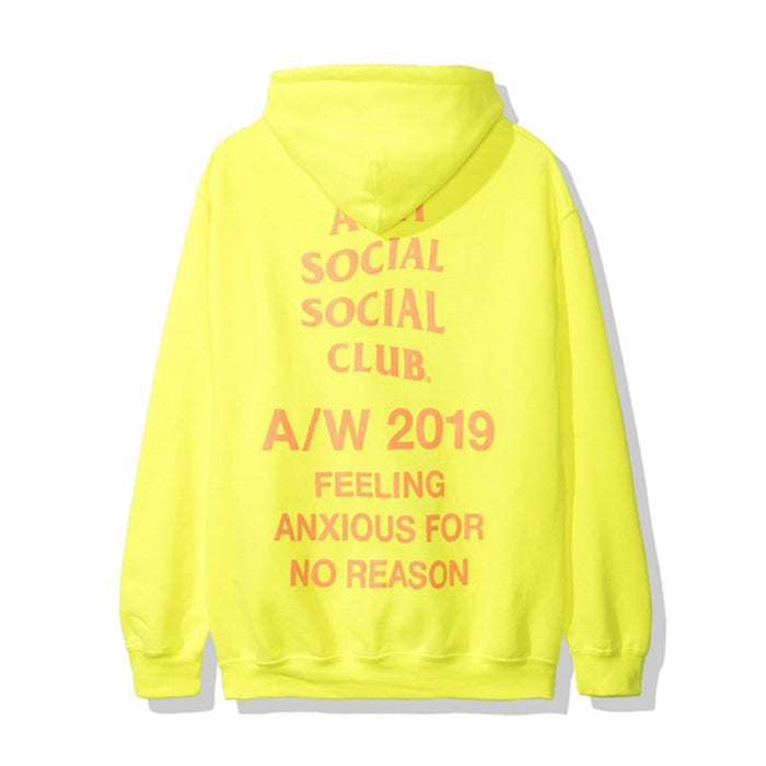 Anti Social Social Club Feeling Anxious Hoodie Neon Green