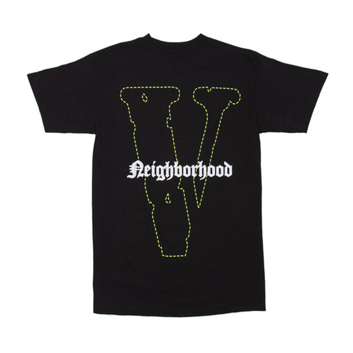 Vlone x Neighborhood Skull Tee Black/Green