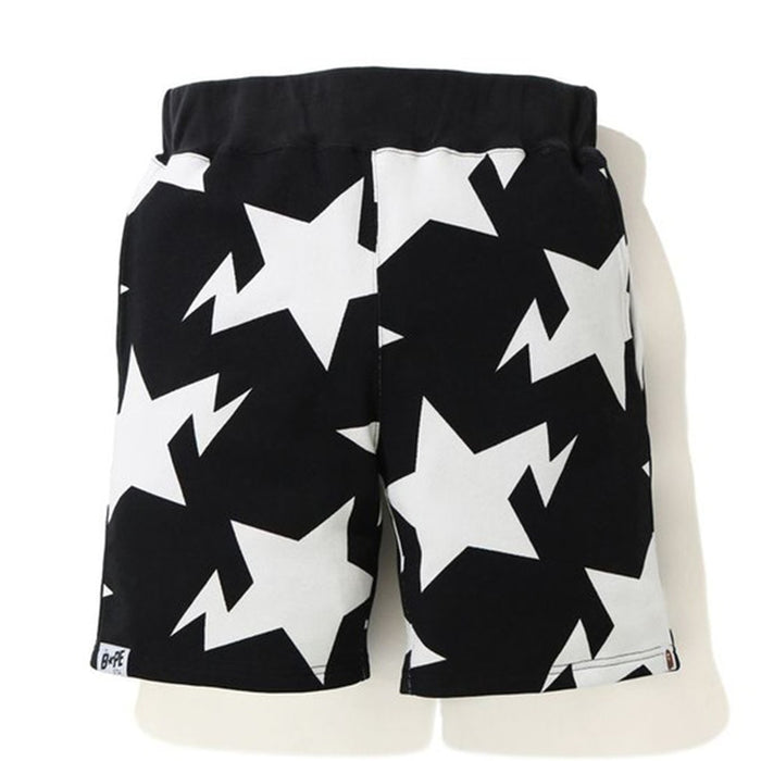 BAPE STA Pattern Sweat Shorts Black/White
