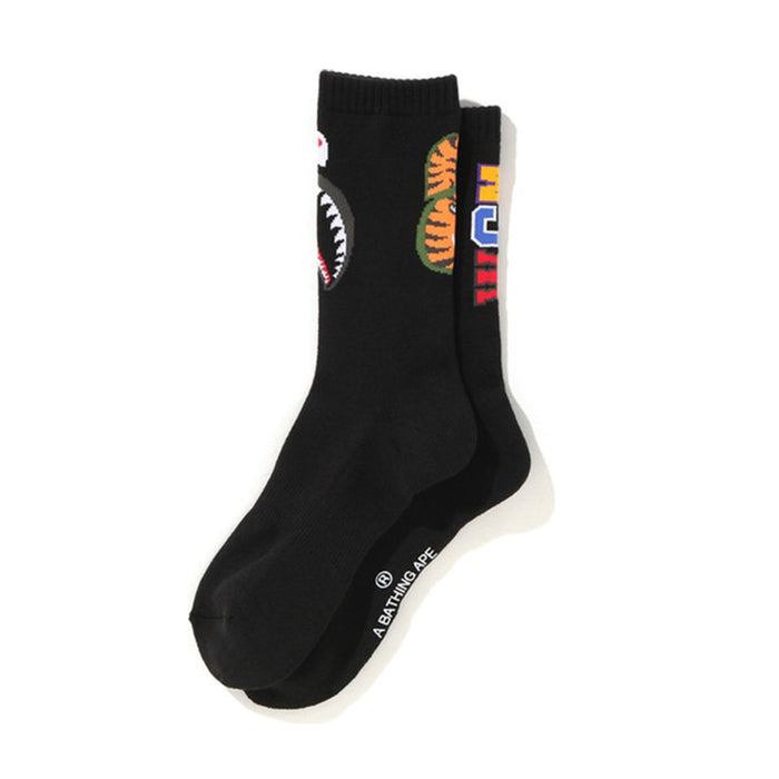 BAPE Shark Socks Black
