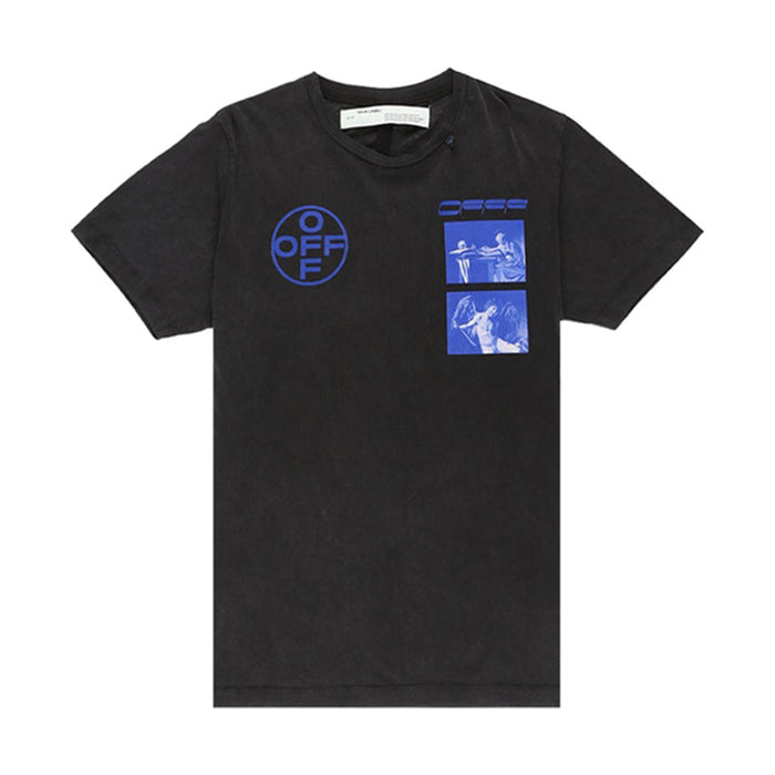 OFF-WHITE Hardcore Caravaggio T-shirt (FW 19) Black/Blue