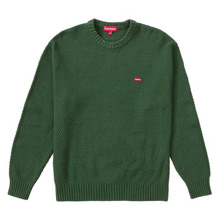 Supreme Textured Small Box Sweater Green