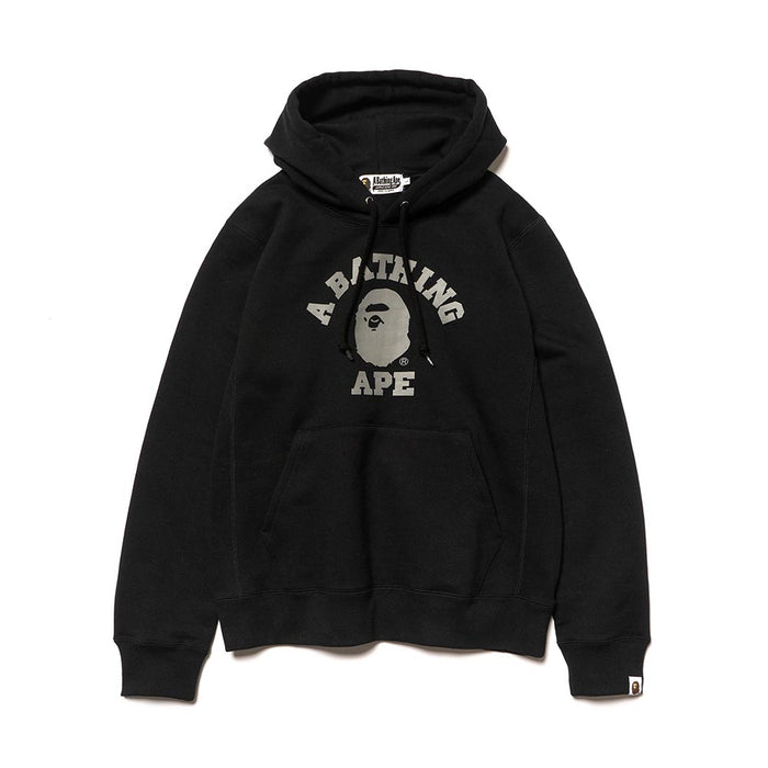 BAPE College Heavy Weight Pullover Hoodie Black