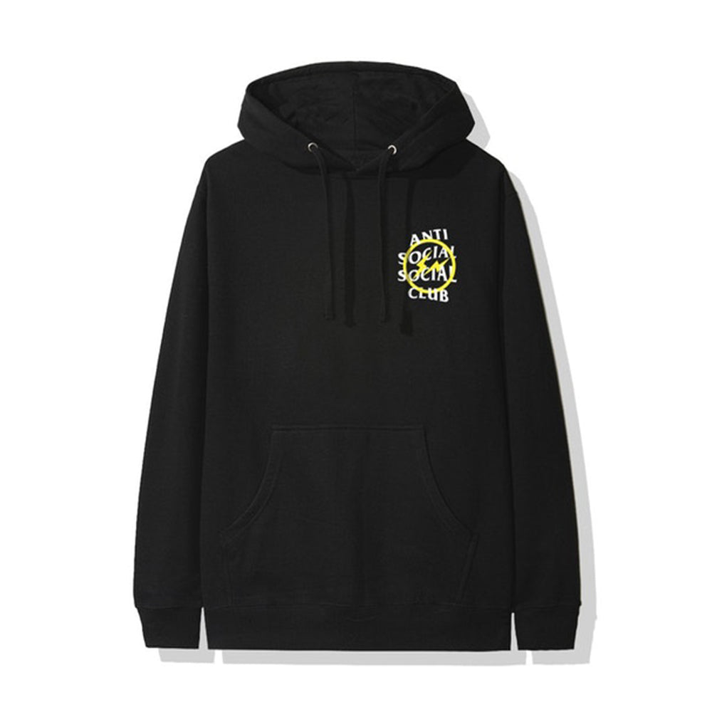 ASSC x Fragment Yellow Bolt Hoodie Black