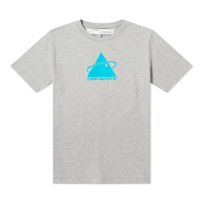 OFF-WHITE Triangle Planet Tee Grey/Teal