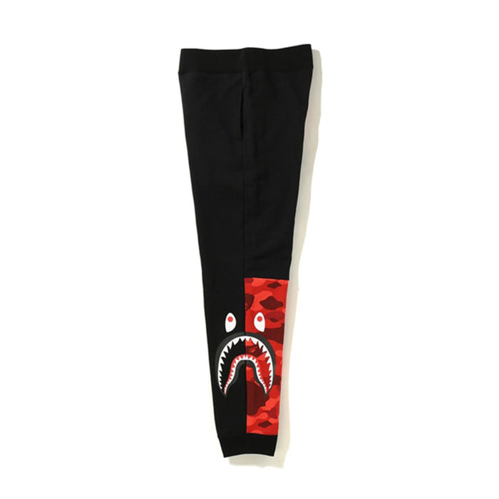 BAPE Camo Side Shark Sweatpants Black/Red