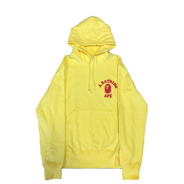 BAPE College Pullover Hoodie Yellow