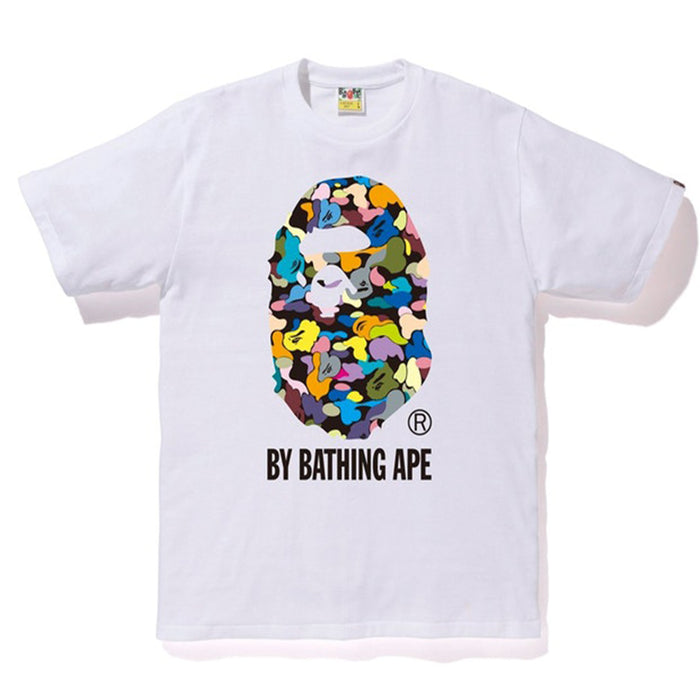BAPE Multi Camo By Bathing Tee White