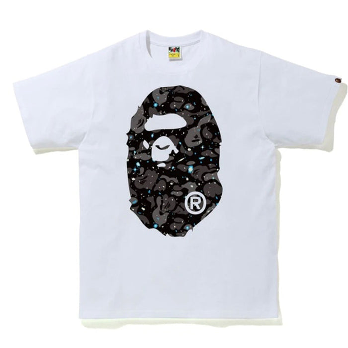 BAPE Space Camo Big Ape Head Tee White