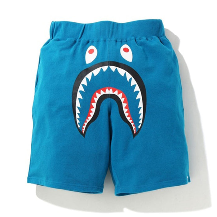 BAPE Shark Wide Sweatshort Blue