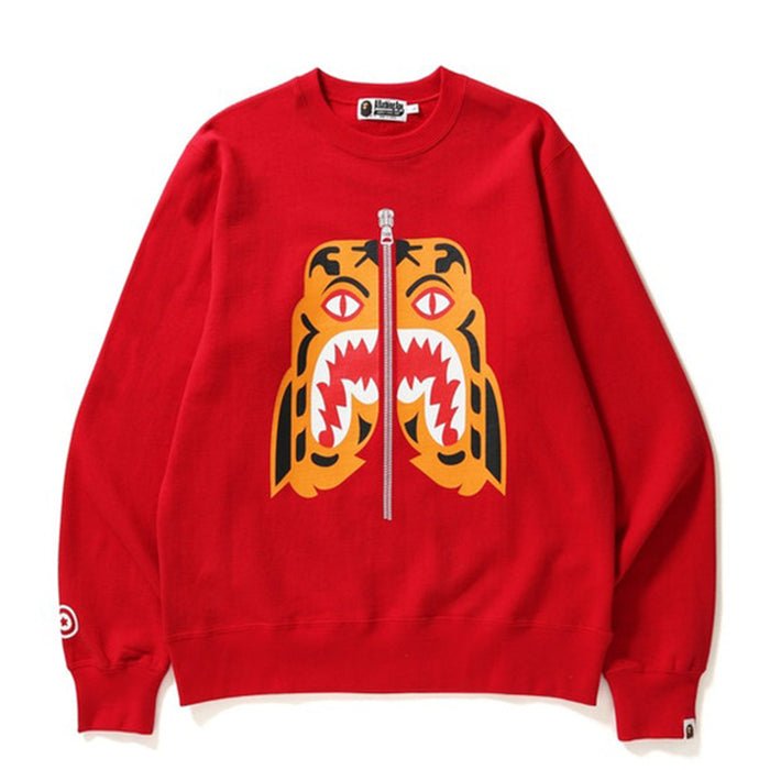 BAPE Tiger Crewneck Crewneck Red