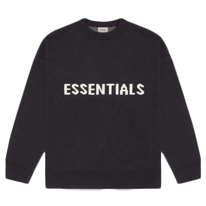 FEAR OF GOD ESSENTIALS Knit Sweater Black