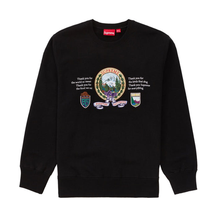 Supreme Mountain Crewneck Black
