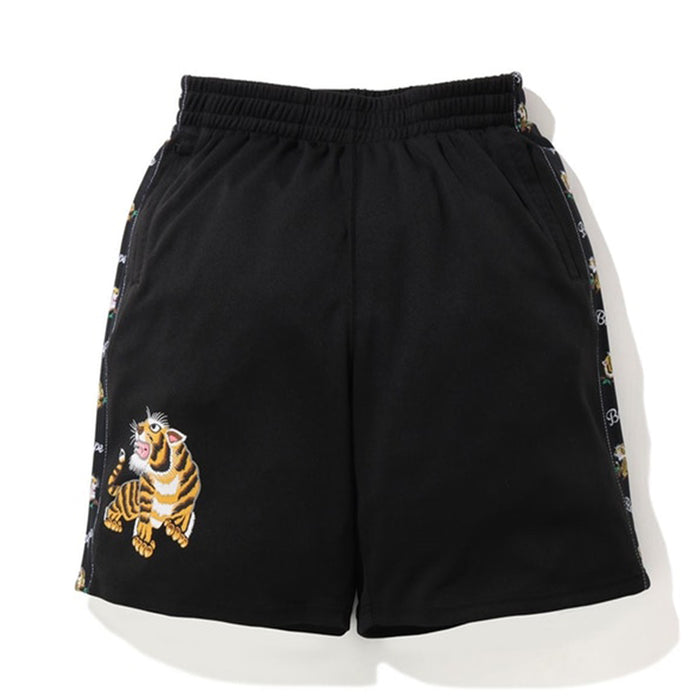 BAPE Tiger Jersey Wide Shorts Black