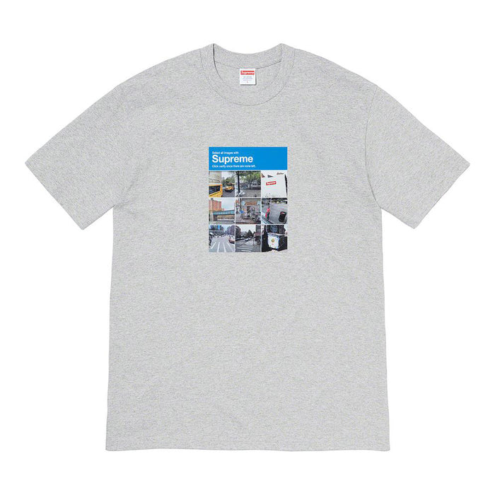 Supreme Verify Tee Heather Grey