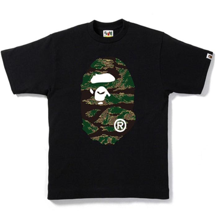 BAPE Tiger Camo Big Ape Head Tee Black
