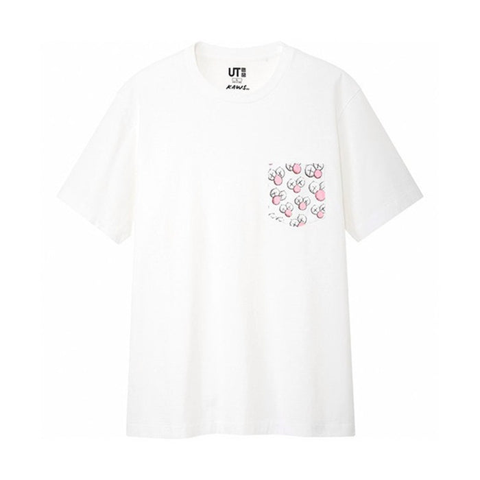 KAWS x Uniqlo BFF Pocket Tee White