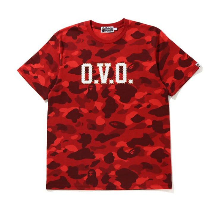 BAPE x OVO Color Camo Tee Red