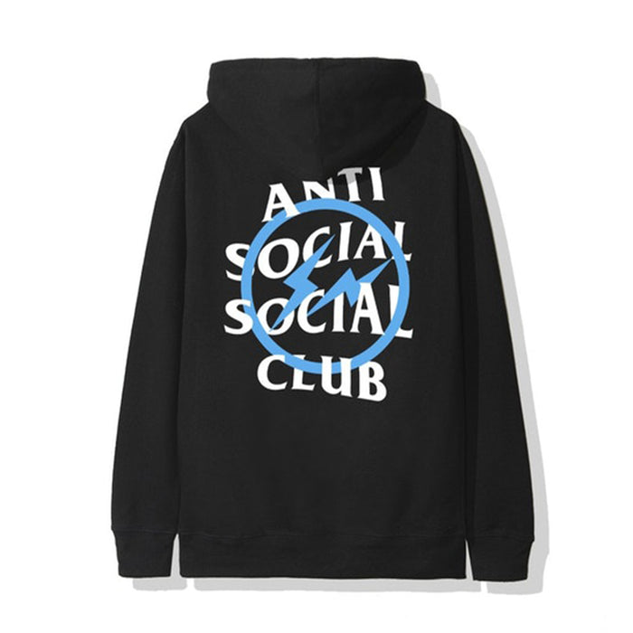 ASSC x Fragment Blue Bolt Hoodie Black