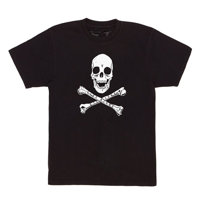 Vlone Skull and Bones Tee Black/White