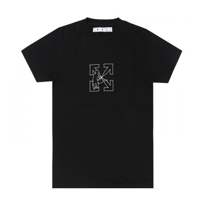 Off-White OW Logo Workers S/S Slim Tee Black/White