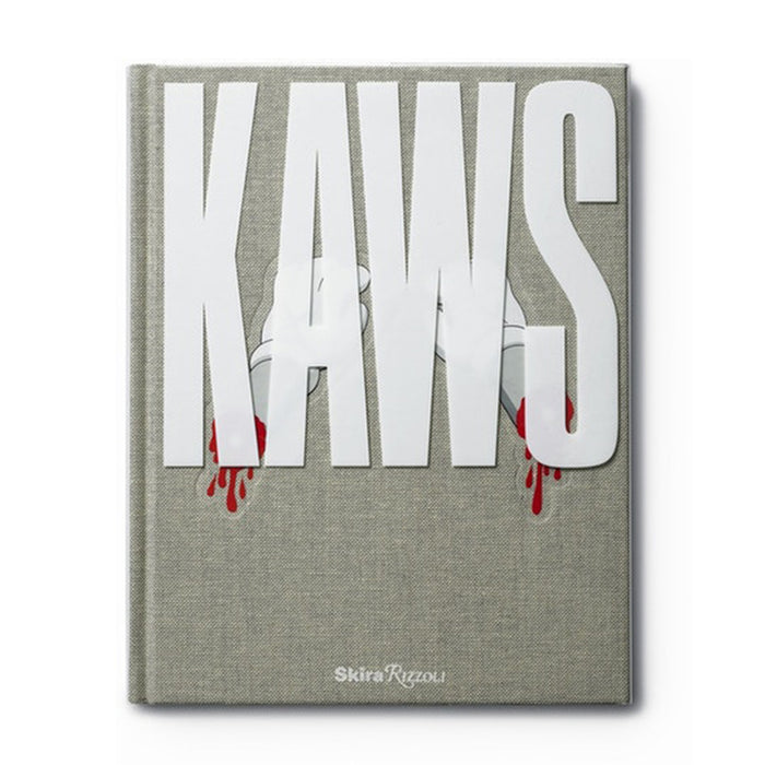 KAWS Rizzoli Hardcover Book Grey