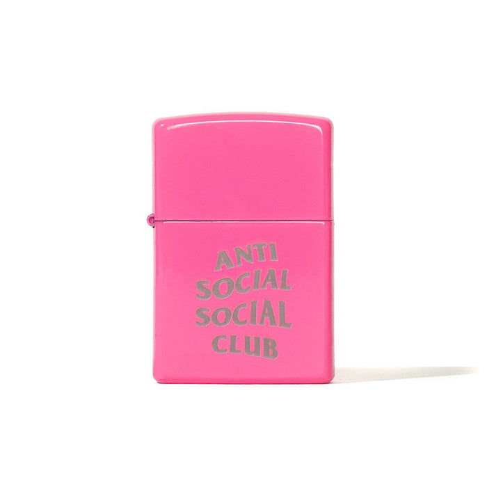 Anti Social Social Club Zippo Lighter Pink