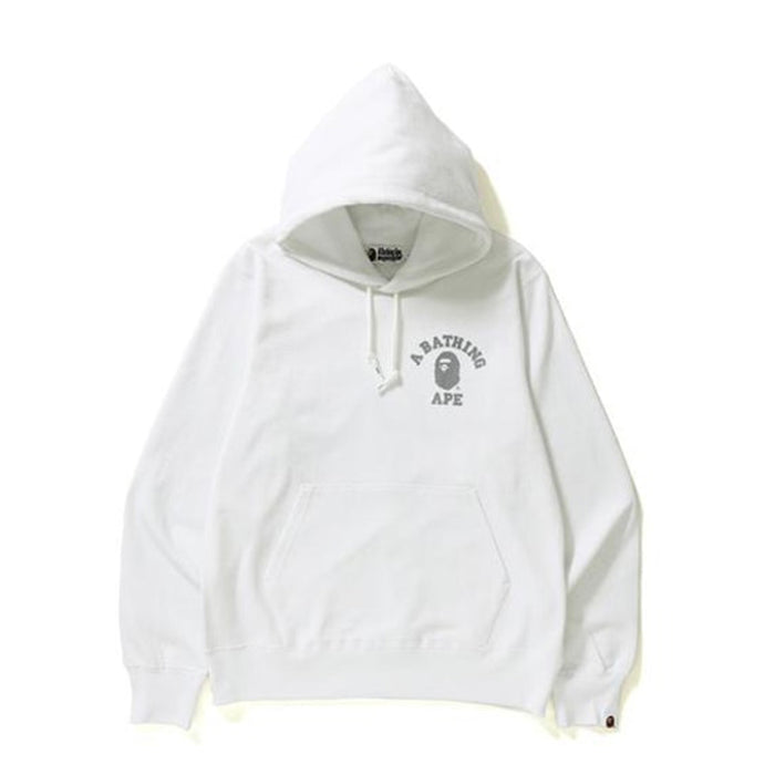 BAPE College Pullover Hoodie White
