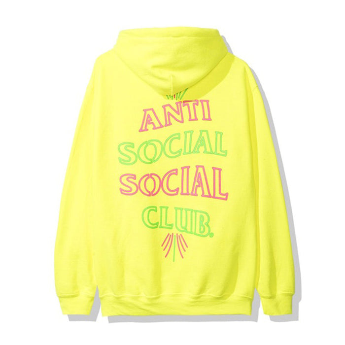 Anti Social Social Club 777 Hoodie Neon Green