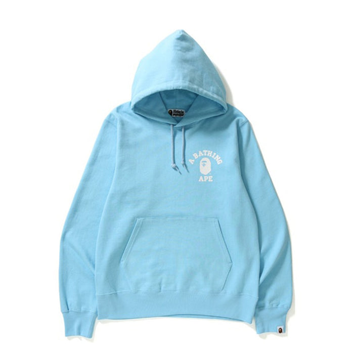 BAPE College Pullover Hoodie Light Blue