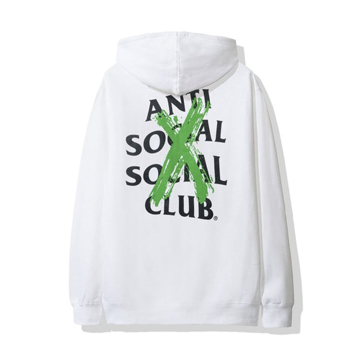 Anti Social Social Club Cancelled Remix Hoodie White