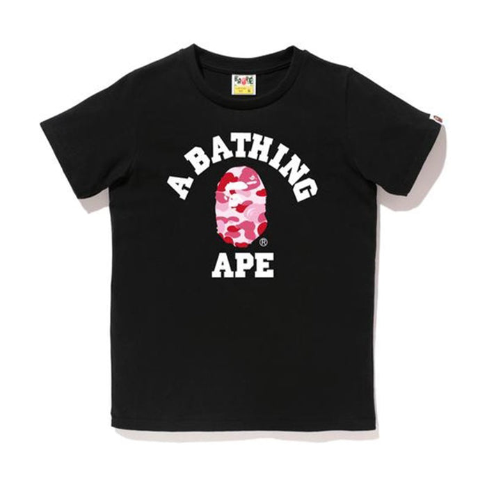 BAPE Abc Camo College Tee Tee (Ladies) Black/Pink