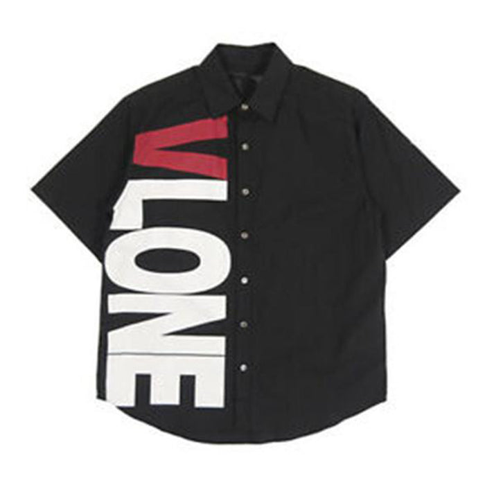 VLONE Side Logo Button Up Short Sleeve