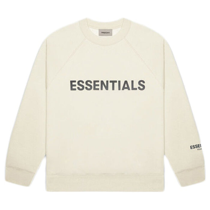 FEAR OF GOD ESSENTIALS Applique Crewneck Buttercream