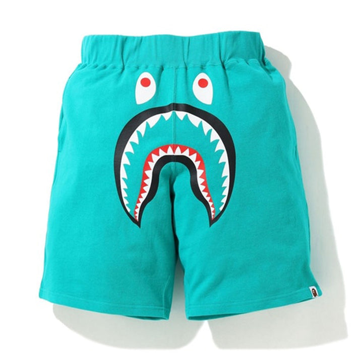 BAPE Shark Wide Sweatshort Green