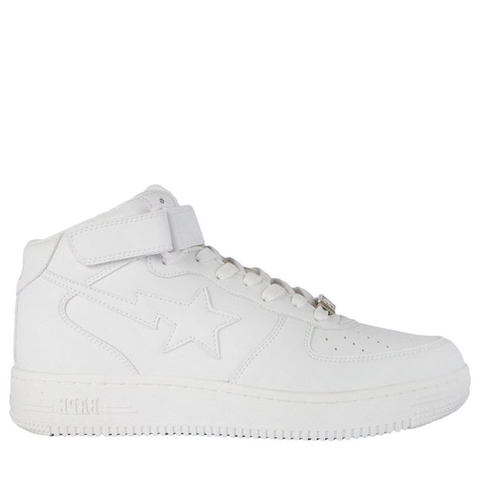 A Bathing Ape Bapesta White Mid