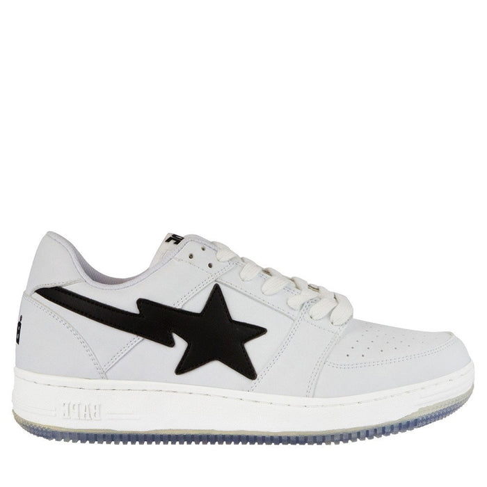 A Bathing Ape Bapesta White Low