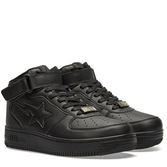 A Bathing Ape Bapesta Black Mid