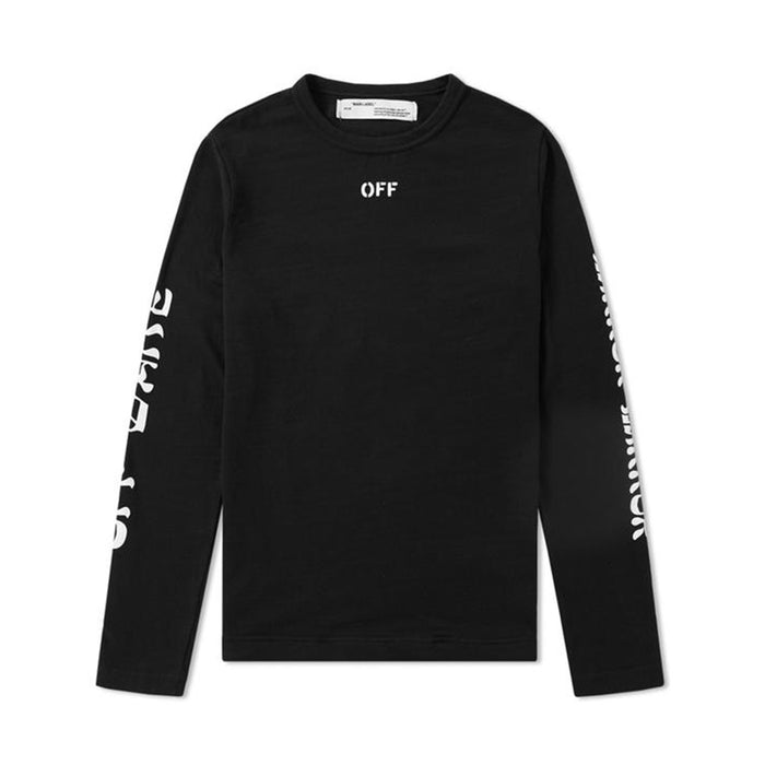 Off-White Quotes L/S Tee Black