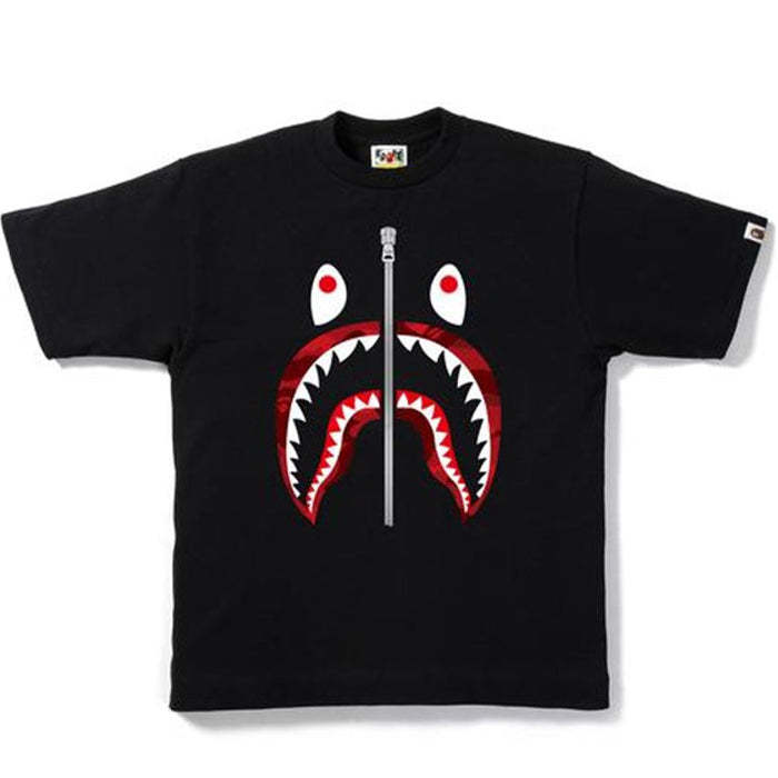 BAPE Color Camo Shark Tee Black/Red