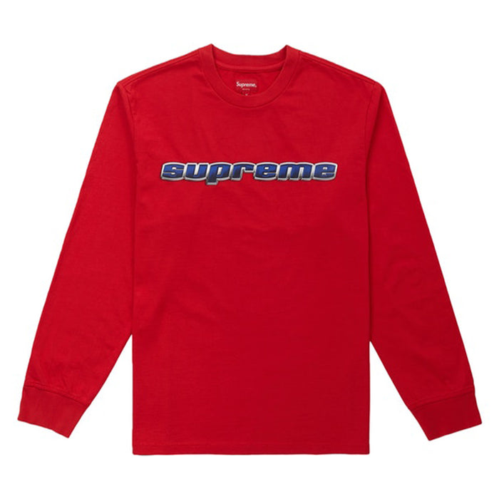 Supreme Chrome Logo L/S Top Red