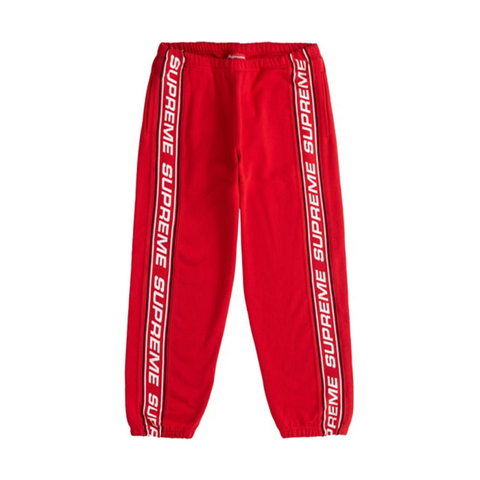Supreme Text Rib Sweatpant Red
