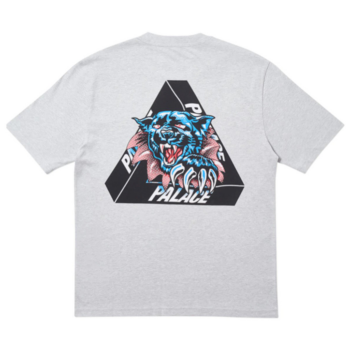 Palace Ripped T-Shirt Grey Marl