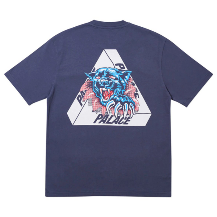 Palace Ripped T-Shirt Navy