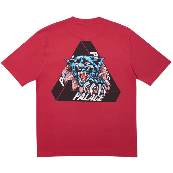 Palace Ripped T-Shirt Dark Red