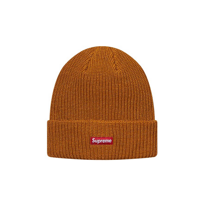 Supreme Heather Loose Gauge Beanie Heather Gold