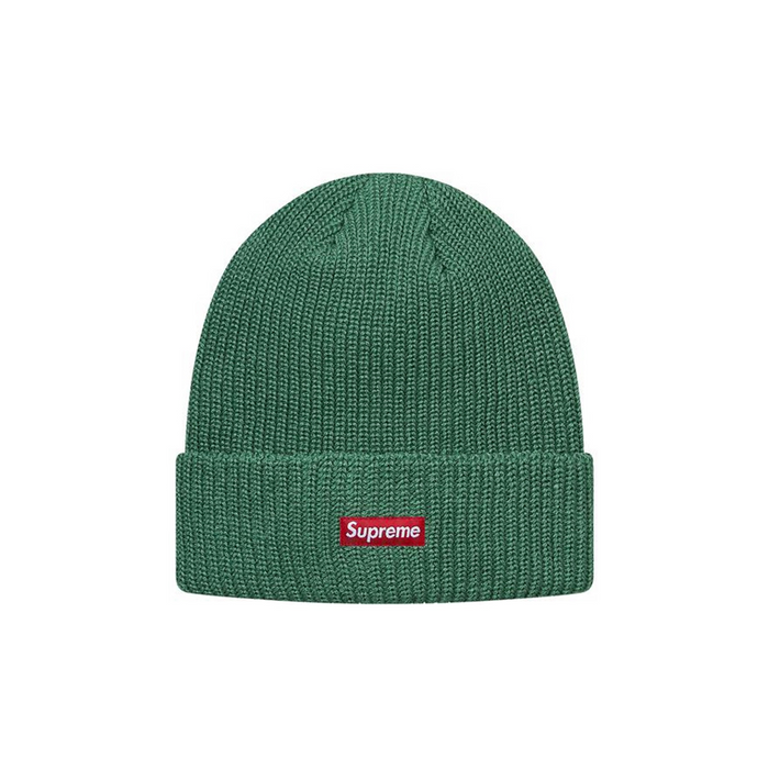 Supreme Heather Loose Gauge Beanie Heather Green